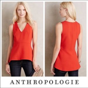 Anthropologie leifsdottir red peplum top